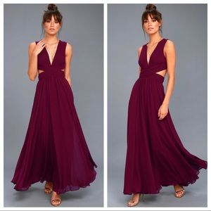 Lulu's Vivid Imagination Plum Purple Maxi Dress